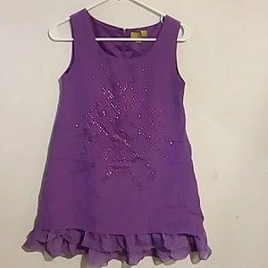 Purple dress by Nicole Miller